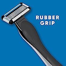 rubber grip wont slip while shaving