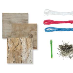 Fil tendu 3 tableaux Kit de loisir cr/éatif enfant Lovely Box Collector CRE1039 DIY Sycomore D/ès 7 ans