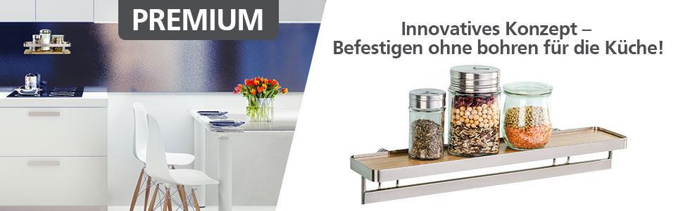 wenko 54802100 universalregal premium-küchen-ablage, küchenregal ... - Küchenregal Mit Beleuchtung