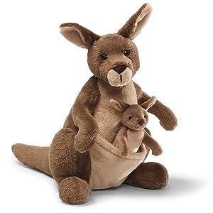 """GUND Jirra Kangaroo Stuffed Animal Plush, Brown, 10"""""""
