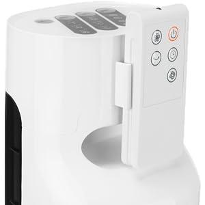 .ventilatore a torretta oscillante telecomando moderno economico semplice classico silenzioso bianco