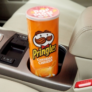 Pringles cans are highly portable to infuse more snacking fun into quick excursions and road trips