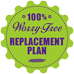 100 percent worry-free replacement plan