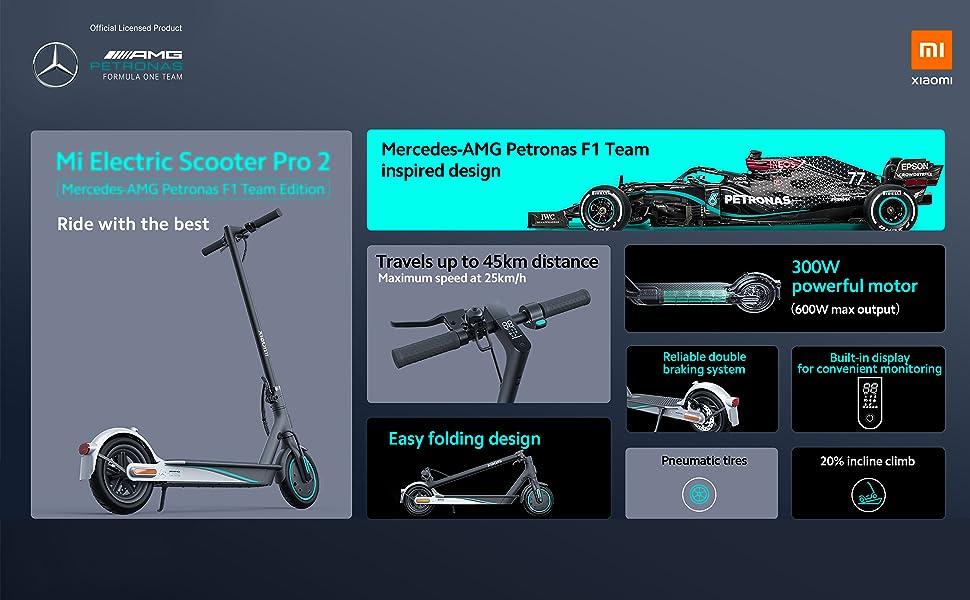 Xiaomi Mi Electric Scooter Pro2 -Mercedes-AMG Petronas F1 Team Edition