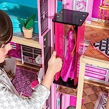Amazon Com Kidkraft Shimmer Mansion Dollhouse Toys Games