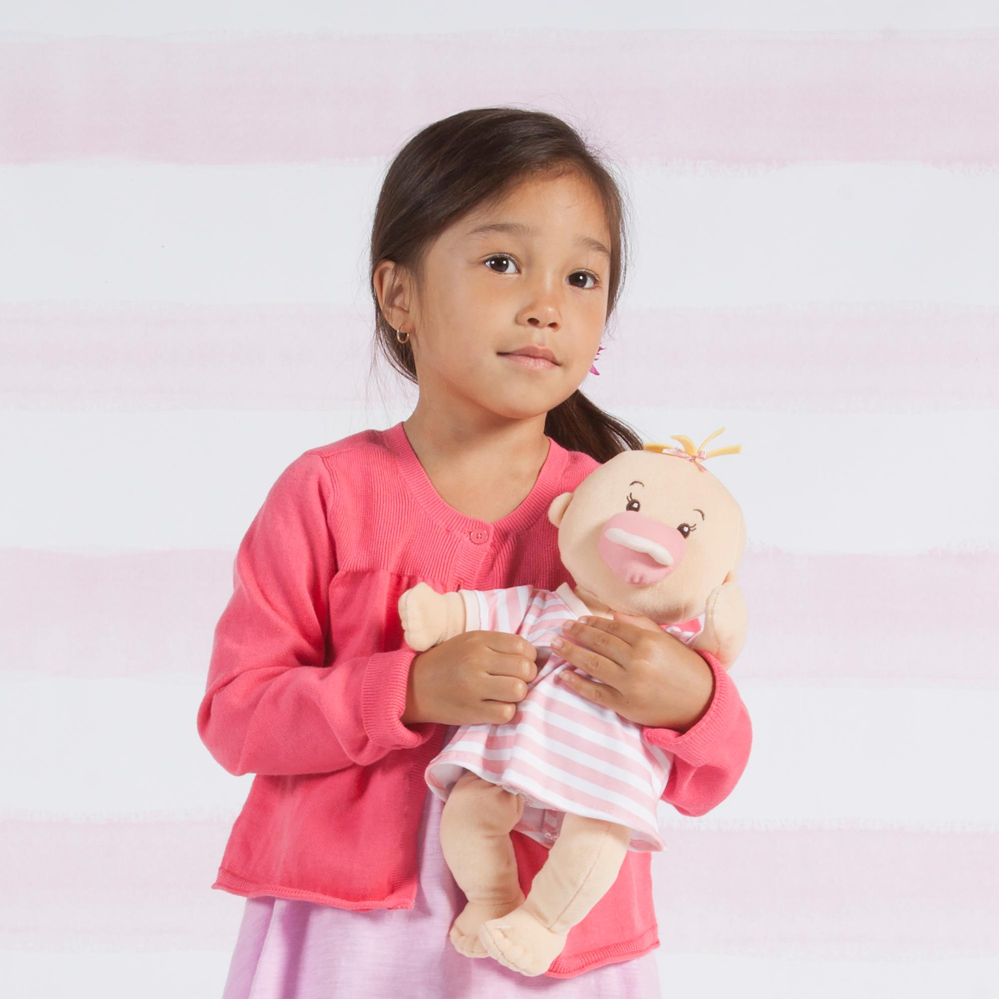 manhattan toy baby stella peach soft first baby doll for ages 1 year and up 15. Black Bedroom Furniture Sets. Home Design Ideas