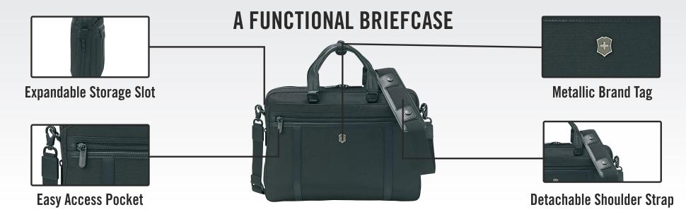 """Victorinox Werks Professional 2.0 13/"""" Brief Laptop Briefcase 604989"""