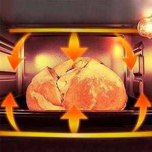 Cecotec Horno Conveccion Sobremesa Bake&Toast 550. Capacidad de 23 litros, 1500 W, 3 Modos, Temperatura hasta 230ºC y Tiempo hasta 60 Minutos, Incluye ...