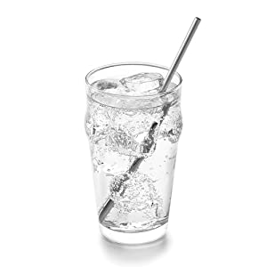 Stainless Steel Straight Reusable Straws; reusable drinking straws; straight straws; bent straws