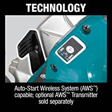 technolog auto-start wireless system AWS capable optional transmitter sold seperatly