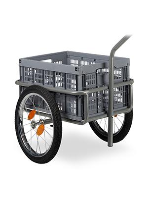 Relaxdays, Gris Remolque para Bicicleta, Carro de Mano, Caja ...