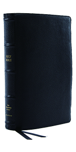 New King James NKJV Holy Bible Black Leather Reference Bible Verse by Verse