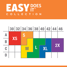 warner's easy does it size chart, wire-free bras for women, comfortable bras for women