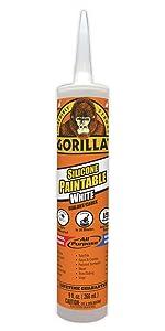 Gorilla paintable silicone sealant cartridge