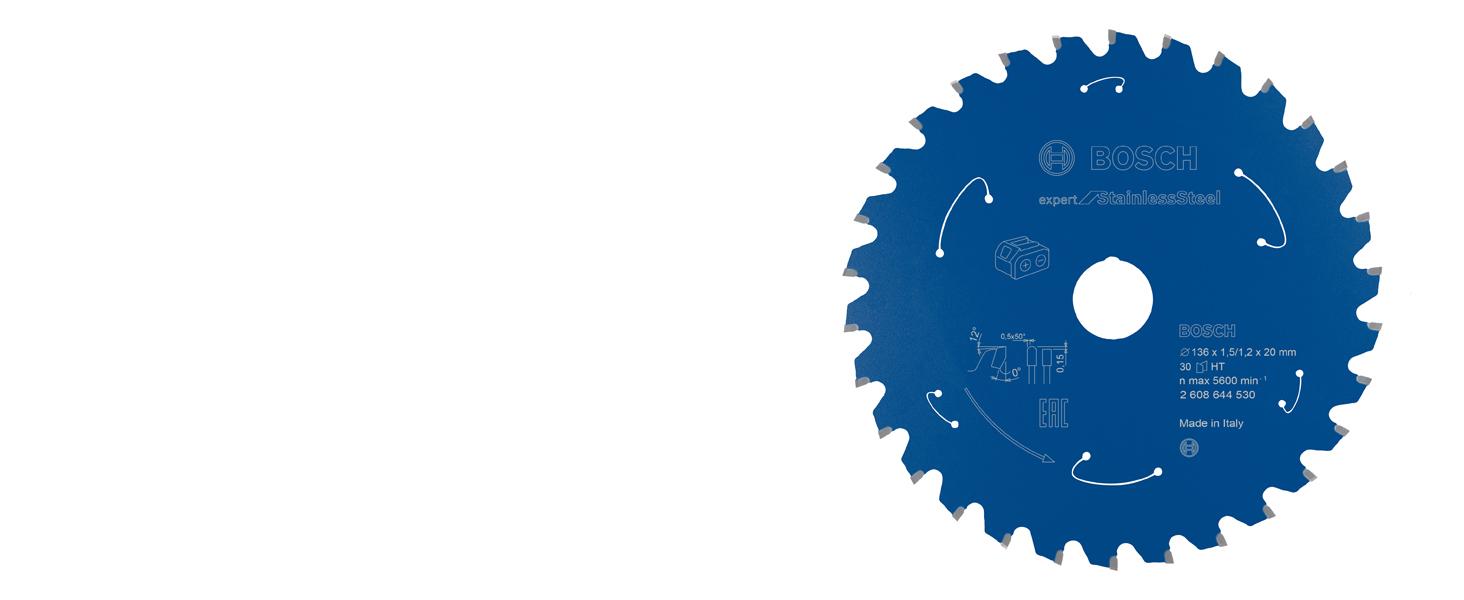bosch professional, expert for Stainless Steel, rostfritt stål, cirkelsågklinga, sladdlös cirkelsåg