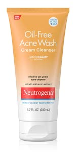 oil free acne wash cream cleanser