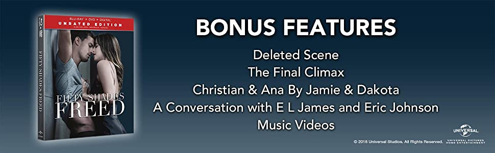 ccc61d8264 Fifty Shades, bonus features, romance, deleted scenes, behind the scenes,  fifty