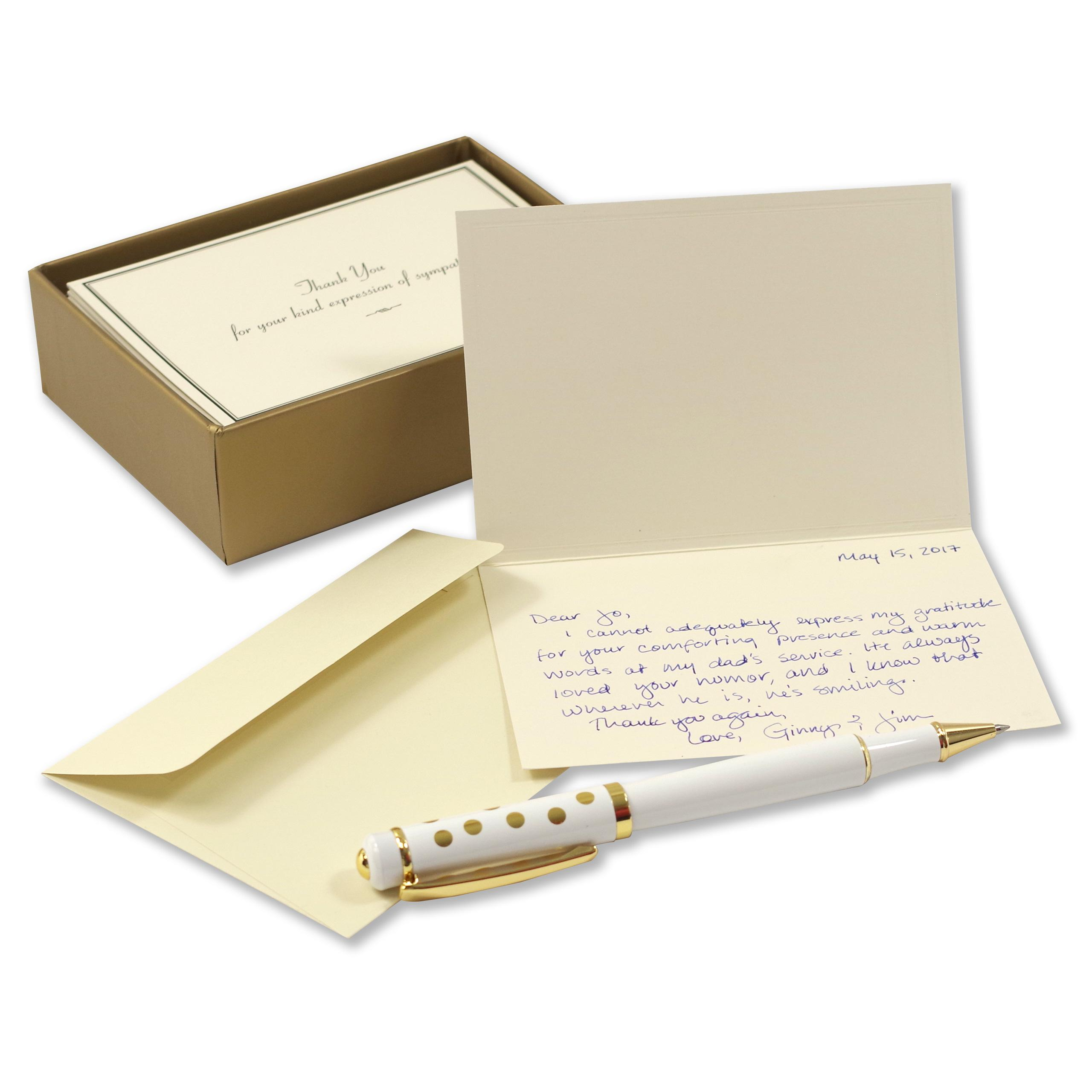 Letterhead Envelopes: Sympathy Thank You Notes: Peter Pauper Press