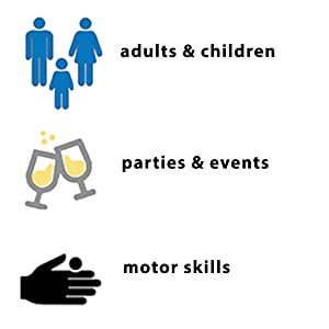 verjaardagspel, feestspel, familiespel, motoriek spel
