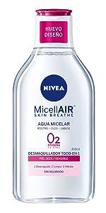 NIVEA MicellAIR Toallitas Desmaquilladoras Micelares con Agua de ...