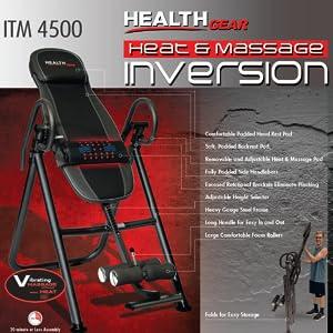 Health Gear ITM4.5 Adjustable Heat & Massage Inversion Table