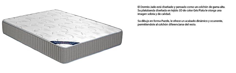 Dormio Colchón Jade- Colchón Viscoelástico 135x190x27. (Todas las medidas).