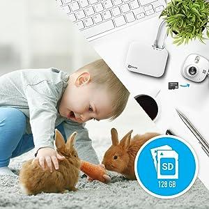 NVR,memorizzazione locale gratuita,SD card slot,micro SD,registratori video