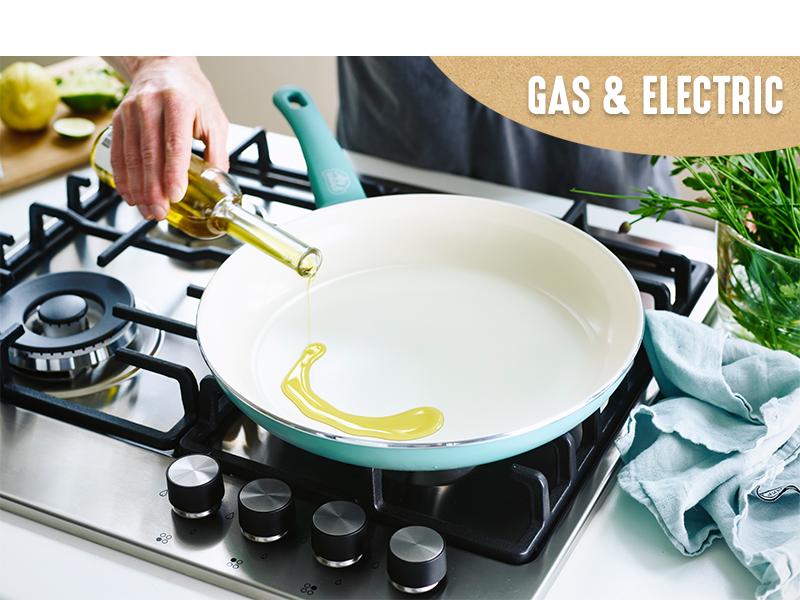 GreenLife, color, easy release, durable, versatile, colorful, PFAS, clean cookware, pots and pans