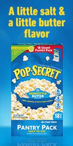 POP SECRET Homestyle Butter Popcorn Box