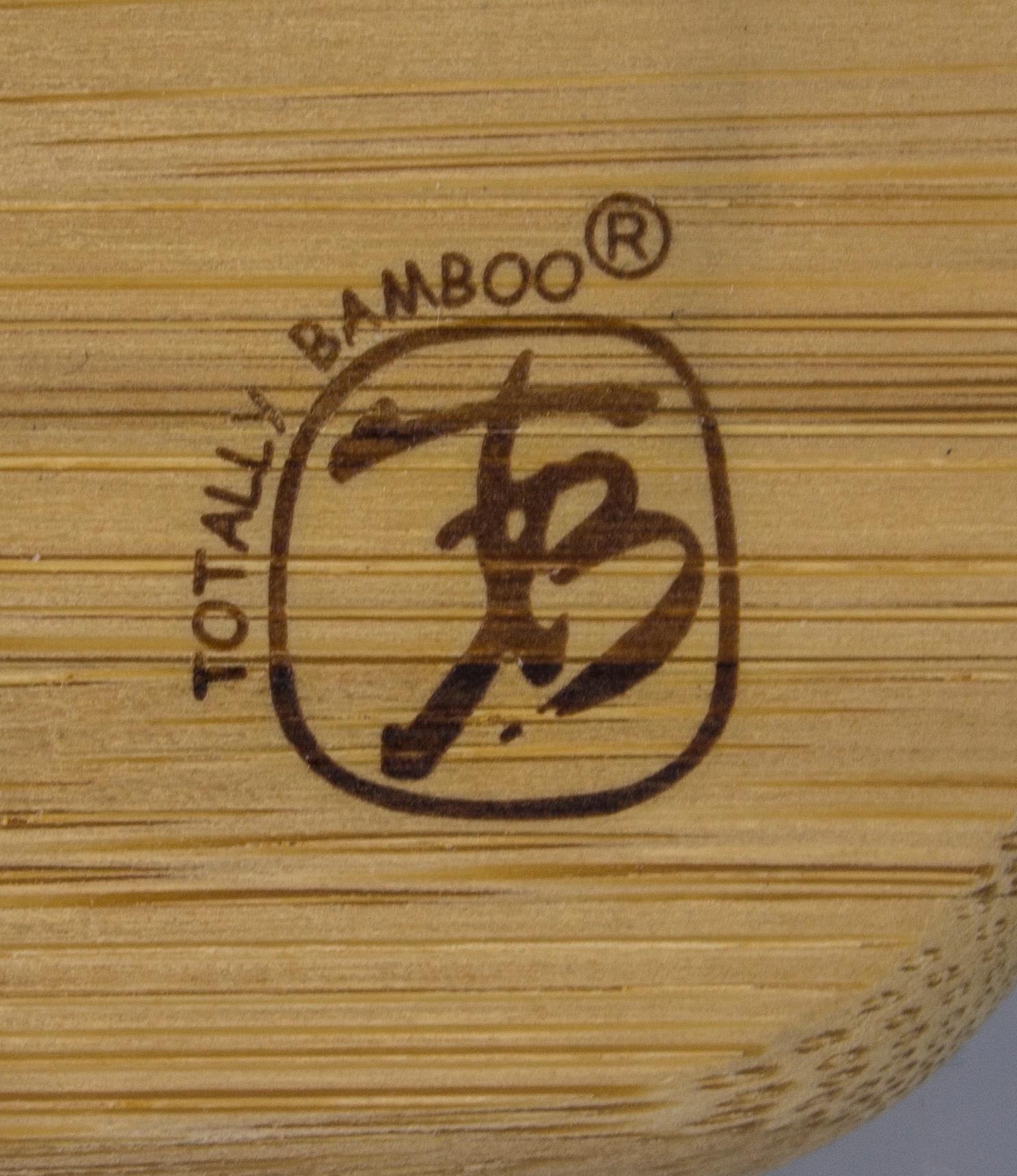 amazon com totally bamboo 3 bowl butcher block prep board