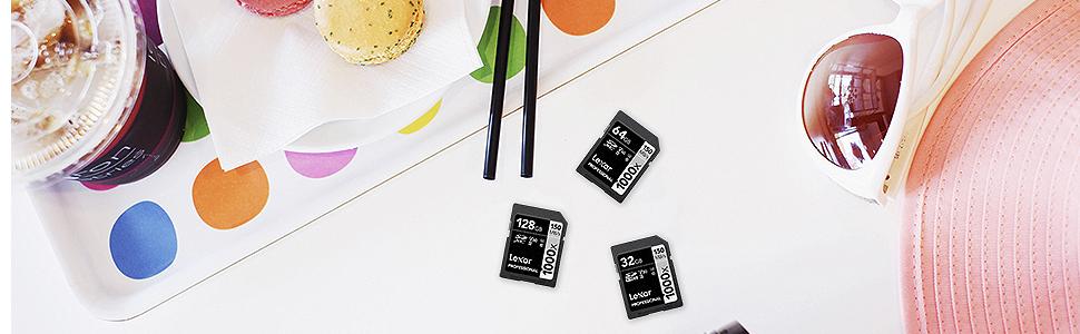 Lexar Professional - Tarjeta de memoria 1000x SDXC de 128 GB