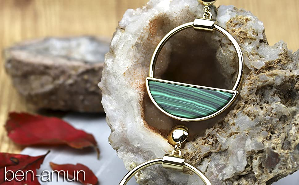 malachite jewelry for woman sets luxury earrings necklace ring fashion hand made collection lady