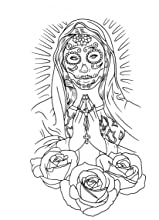Chicano Art Coloring Pages The Tattoo Art of Freddy Negrete A Coloring Book for