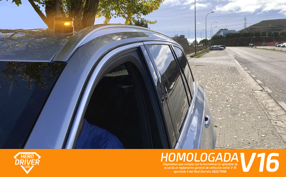 Hero Driver baliza v-16 homologada DGT luz triangulos rotativo led baliza v16