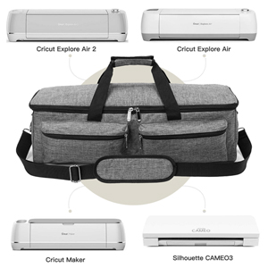 YELAIYEHAO Bolsa de transporte compatible con Cricut Explore Air and Maker bolsa de mano impermeable compatible con Cricut Explore Air y suministros 1+1, morado