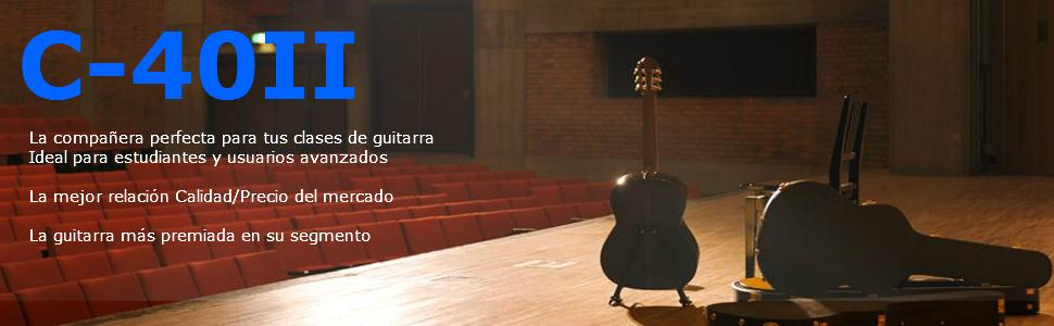 Yamaha C40Ii Acoustic Guitar Clasico Marron, Amarillo - Guitarra ...