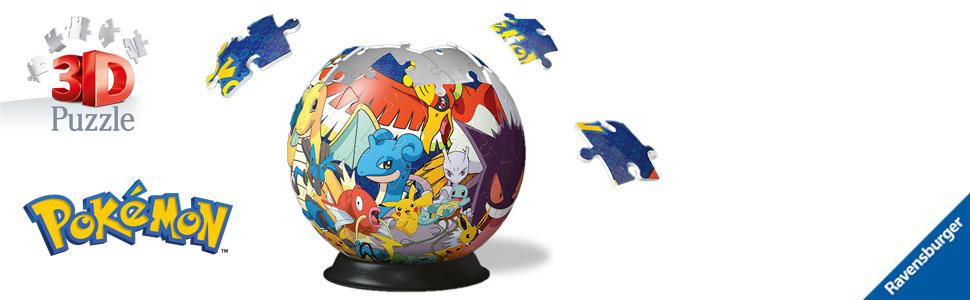 Puzzle 3D Ball Pokémon Pikachu Qualité Ravensburger 72p