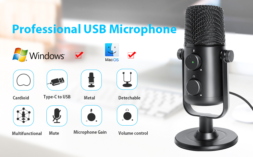podcast usb microphone for pc, recording