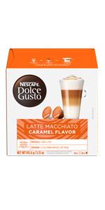 nescafe dolce gusto Latte Macchiato Caramel flavor
