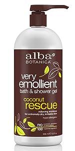 Very Emollient Coconut Rescue Bath & Shower Gel