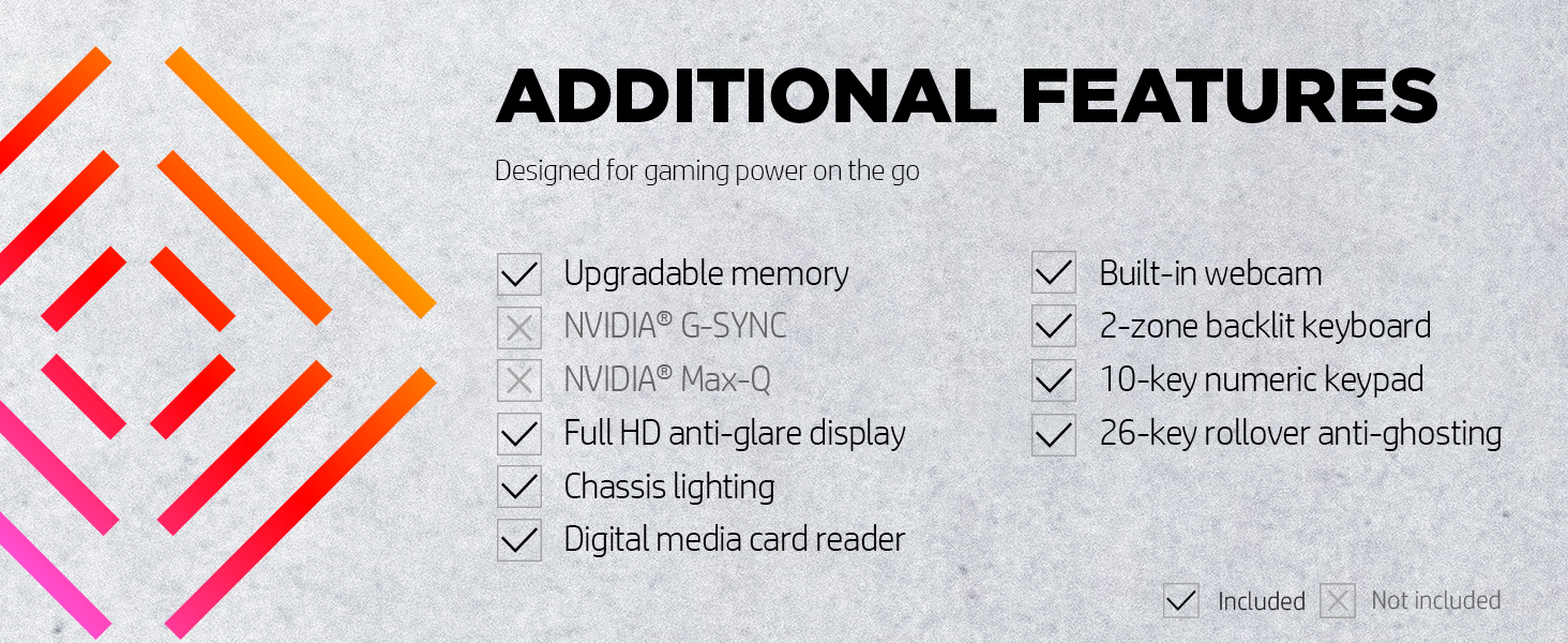gaming power upgradable FHD full hd media card webcam backlit zoning anti ghosting rollover n-key
