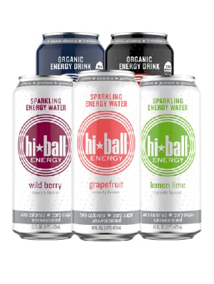 hiball energy, hiball sparkling water, monster, red bull, bang energy drink, vpx, celsius, phocus