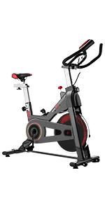 FITFIU BESP-22 - Bicicleta Indoor Spinning ergonómica con disco inercia 24kg y resistencia regulable, Bici Entrenamiento Fitness con sillín ajustable, Pulsómetro y pantalla LCD: Amazon.es: Hogar