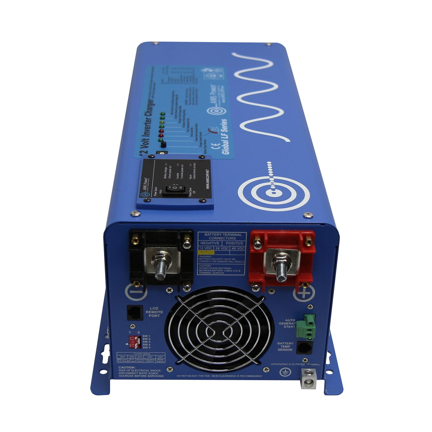 Aims Power 3000 Watt 12v Pure Sine Inverter Charger W Ats Control Panel Wiring Diagram Genset Controller View Larger