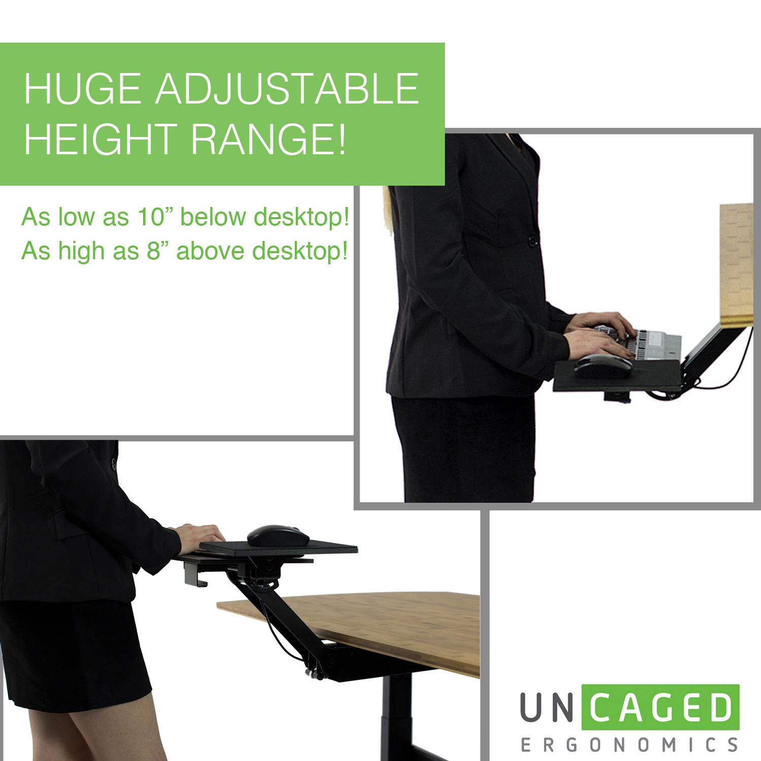 Kt2 Ergonomic Under Desk Adjustable Height Amp Angle Sit To