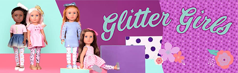 Glitter Girls 14-inch dolls 14-inch doll clothes 14-inch doll accessories Wellie Wishers compatible