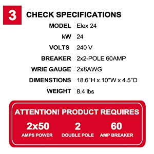 check thermoflow Elex 24 specifications