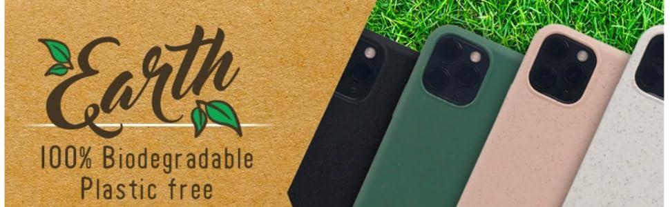 Celly Funda Ecológica iPhone 11 Pro, Carcasa Biodegradable de ...