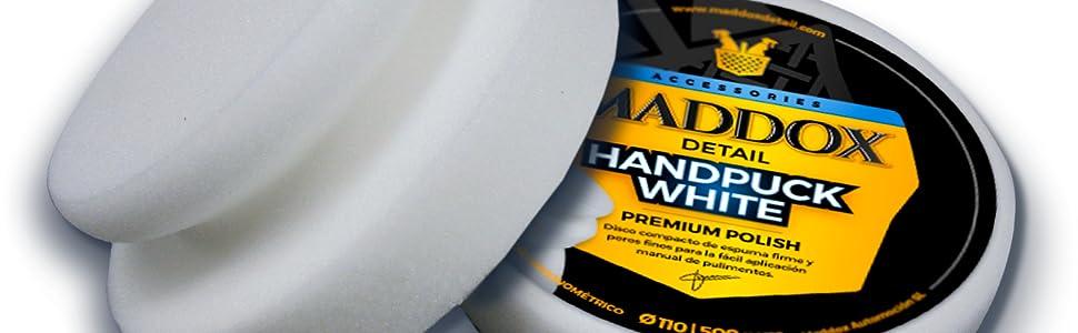 Maddox Detail 70301 Handpuck White Premium Polish Polierscheibe Aus Festem Schaumstoff Mit Feinen Poren Zum Einfachen Manuellen Auftragen Von Polituren Für Autos Weiß Auto
