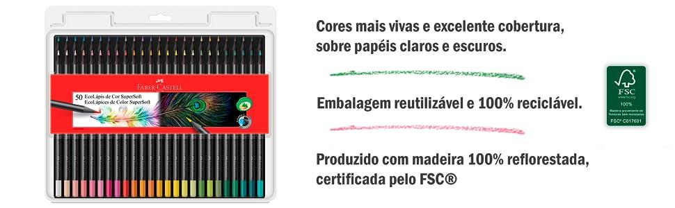 EcoLápis de Cor Supersoft 50 Cores
